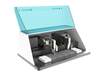 XY-Z microtiter scanning system for fast and parallel analyses, laboratory automation, cell monitoring, pharmaceutical testing and cytology - Laboratory / Analytics